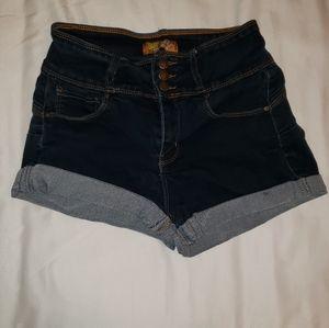 Butt I Love You Wax Jean Shorts Size 24